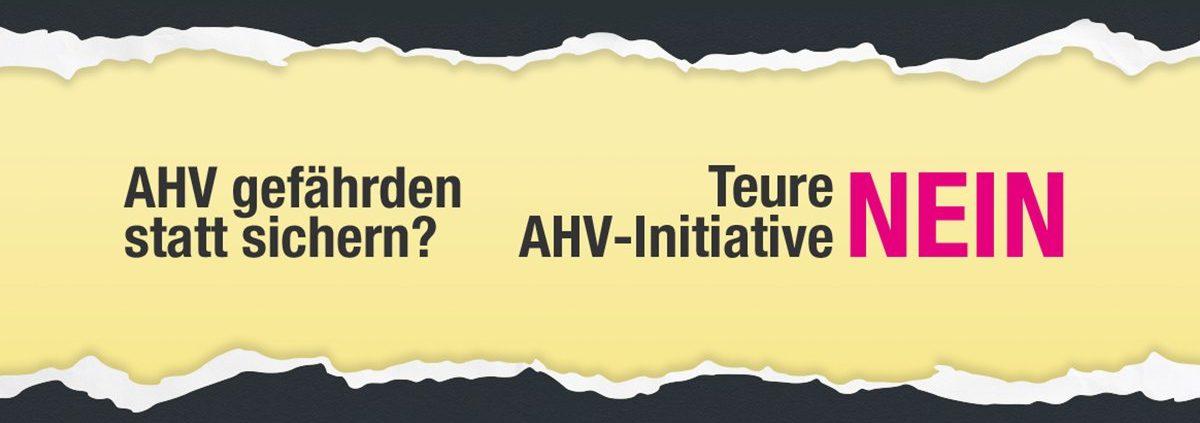 NEIN zu AHVplus Initiative